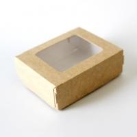 Коробка с окошком 100 x 80 x 35 мм