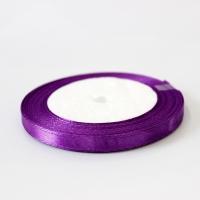 Лента атласная, цвет фиолетовый, 6 мм (20м)