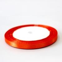 Лента атласная, цвет рыжий, 6 мм (20м)
