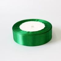 Лента атласная, зеленая, 25 мм (20м)