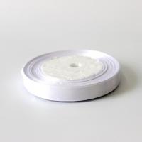 Лента атласная, белая, 12 мм (20м)