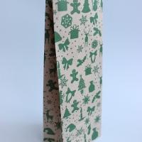 Крафт-пакет Зеленые новогодние