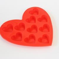 Силиконовая форма для льда и шоколада сердечки