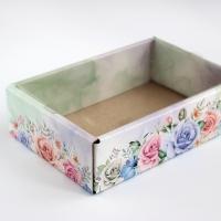 Коробочка с прозрачной крышкой Цветы