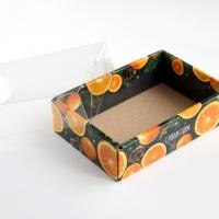 Коробка с прозрачной крышкой Цитрусы