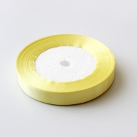 Лента атласная, нежный желтый , 12 мм (20м)