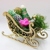 Готовое мыло Новогодние сани2