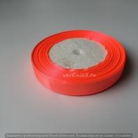 Лента атласная, персик, 12 мм (20м)