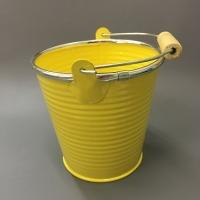 Ведерко металл желтое