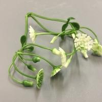розетка белые цветочки, 5 шт