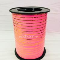 Лента упаковочная 0,5 см , 1 м (розовая)