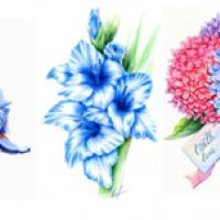 Водорастворимые картинки Цветы/ирисы