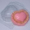 Пластиковая форма Сердце с рюшами