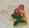 """Пластиковая форма """"Тюльпаны"""""""