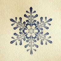Штамп для мыла Снежинка №5