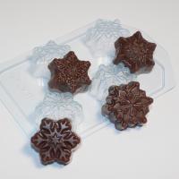 Пластиковая форма снежинки мини