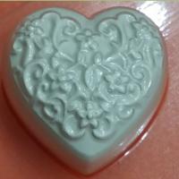 Пластиковая форма Сердечко с узором БП
