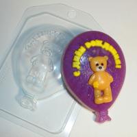 Пластиковая форма С днем рождения/Шарик с мишкой