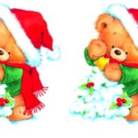 Водорастворимые картинки новогодние 2