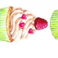 Водорастворимые картинки Пирожное