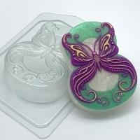 Пластиковая форма 8 марта/бабочка в завитушках