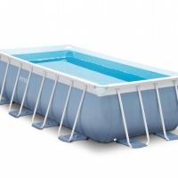 Бассейн каркасный прямоугольный (400х200х100см)+насос-фильтр, лестница INTEX арт.26776