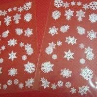 Пакет прозрачный снежинки , 11*20 см