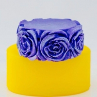 Силиконовая форма цилиндр с розами