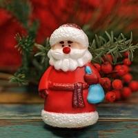 Пластиковая форма Дед мороз в шубе