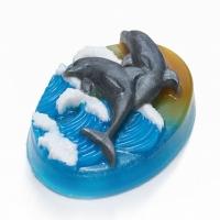 Пластиковая форма Дельфины на волнах