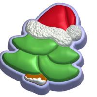 Пластиковая форма Ёлка в шапке