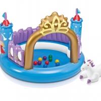 """Игровой центр """"Волшебный замок"""" (130х91см) + мячики, игрушка единорога 48669"""