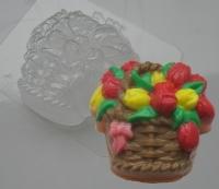 Пластиковая форма Корзина тюльпанов