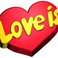 Пластиковая форма Love is