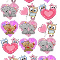 Водорастворимые картинки Мишки-Совы