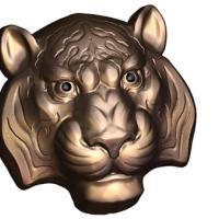 Пластиковая форма Тигр маска