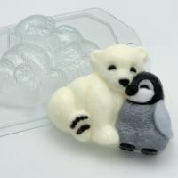 Пластиковая форма Мишка и пингвин друзья