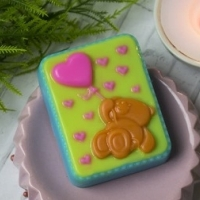 Пластиковая форма Мишка с сердечками