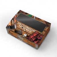 Коробка с окошком Настоящему мужчине (коричневая)