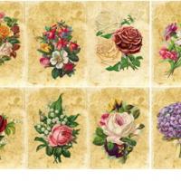 Водорастворимые картинки Цветы ретро