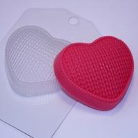 Пластиковая форма Сердце вязаное