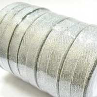 Лента металлизированная, серебро , 12 мм (20м)