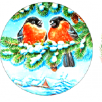 Водорастворимые картинки Снегири2, 3 шт
