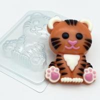 Пластиковая форма Тигр мультяшный сидит