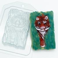 Пластиковая форма Тигр крадется из тростника
