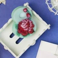 Пластиковая форма Восьмерка с розой