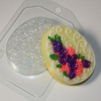 Пластиковая форма Яйцо плоское/орнамент и цветы